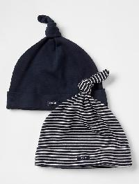 Gap Favorite Knot Hat (2 Pack) - Blue galaxy