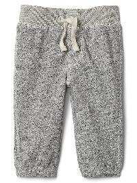 Gap Banded Marled Pants - Marled grey heather