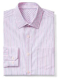 Gap Wrinkle Resistant Double Stripe Standard Fit Shirt - Wild orchid