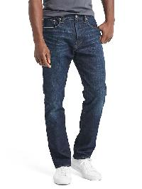 Gap Athletic Taper Fit Jeans - Dark tinted stretch