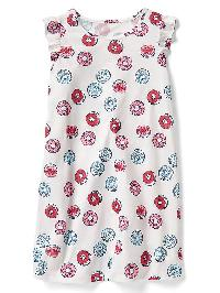 Gap Print Flutter Nightgown - New off white
