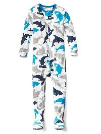 Gap Shark Sleep Footed One Piece - New off white
