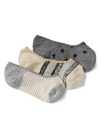 Gap Print No Show Socks (3 Pairs) - Neutral