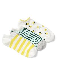 Gap Print Ankle Socks (3 Pairs) - New off white
