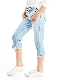 Gap 1969 Stretch Straight Crop Jeans - Light denim