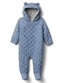 Gap Quilted Chambray Bear One Piece - Denim