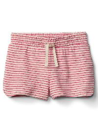 Gap Terry Dolphin Shorts - Pink stripe