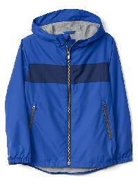 Gap Jersey Lined Stripe Windbuster - Radiant blue