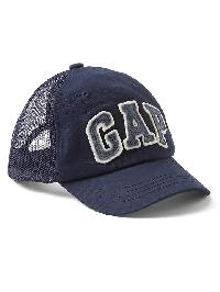 Gap Logo Mix Fabric Baseball Hat - Blue