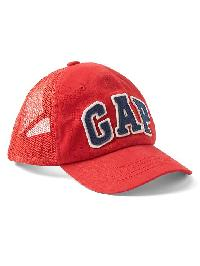 Gap Logo Mix Fabric Baseball Hat - Red