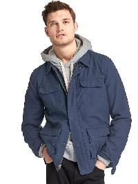 Gap Cotton Field Jacket - Tapestry navy