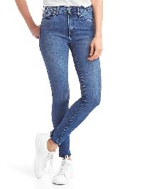Gap Mid Rise True Skinny Ankle Jeans - Dark indigo