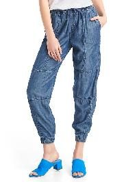 Gap Tencel Seamed Joggers - Light indigo