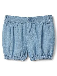 Gap Chambray Bubble Shorts - Denim