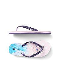 Gapkids &#124 Disney Baby Princess Glitter Flip Flops - Frozen