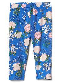 Gap Print Leggings - Blue floral