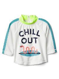 Gap Chill Out Colorblock Rashguard - New off white