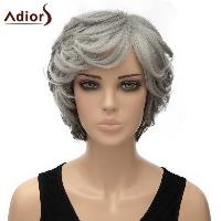 Women's Stylish Adiors Curly Short Heat Resistant Synthetic Cosplay Wig - OMBRE