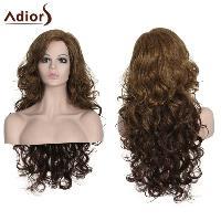 Stylish Long Curly Adiors High Temperature Fiber Women's Wig - COLORMIX