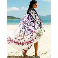 Women's Printed Sun Resistant Cover Up - COLORMIX