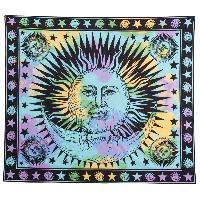 Retro Sun God Totem Beach Throw - LIGHT BLUE