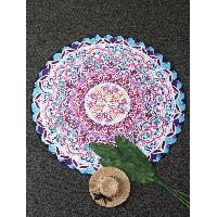 Ancient Vintage Round Beach Throw - COLORMIX