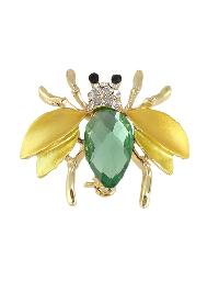 Gold Color Rhinestone Bee Shape Big Brooches