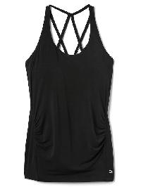 Gapmaternity Breathe Strappy Shelf Tank - True black