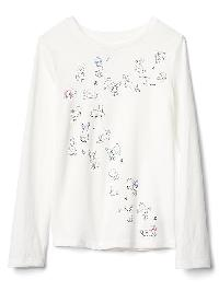 Gap Embellished Graphic Long Sleeve Tee - New off white