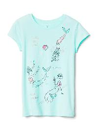 Gap Embellished Graphic Short Sleeve Tee - Ballerina blue