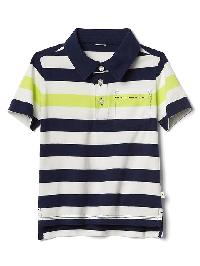 Gap Stripe Short Sleeve Polo - New off white