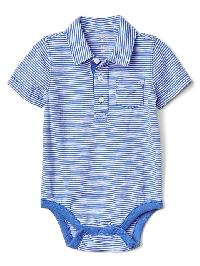 Gap Pocket Slub Polo Bodysuit - Tile blue