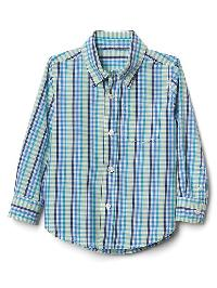 Gap Gingham Long Sleeve Shirt - Active yellow