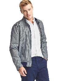 Gap Stripe Harrington Jacket - Dark night