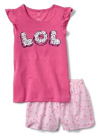 Gap Graphic Flutter Short Pj Set - Pixie dust pink