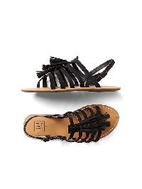Gap Tassel Gladiator Sandals - True black