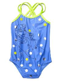 Babygap &#124 Disney Baby Princess Swim One Piece - Belle blue