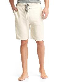 Gap French Terry Drawstring Shorts - Oatmeal heather