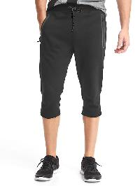 Gap Performance Cotton Zip Pocket Crop Pants - True black