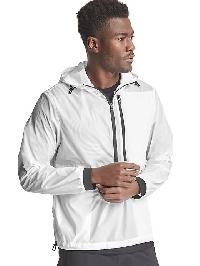 Gap Packable Print Anorak - Optic white