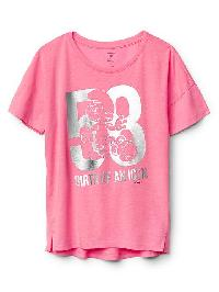 Gapkids &#124 The Smurfs Embellished Graphic Tee - Neon light pink