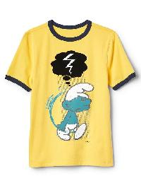 Gapkids &#124 The Smurfs Athletic Graphic Tee - Lemon drop
