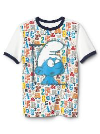 Gapkids &#124 The Smurfs Athletic Graphic Tee - New off white b