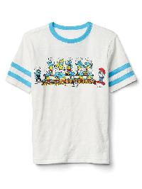 Gapkids &#124 The Smurfs Athletic Graphic Tee - New off white combo a