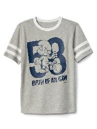 Gapkids &#124 The Smurfs Athletic Graphic Tee - Light heather grey
