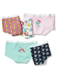 Gapkids &#124 Disney Ariel Girl Shorts (5 Pairs) - Multi