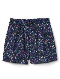 Gap Print Poplin Dolphin Shorts - Blue floral print