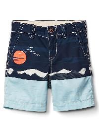 Gap Mountains Flat Front Shorts - Elysian blue
