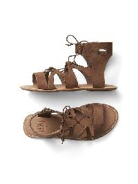 Gap Lace Up Strap Sandals - Medium brown 203