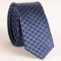 Stylish Small Lattice and Polka Dot Jacquard 5.5CM Width Tie For Men - CADETBLUE